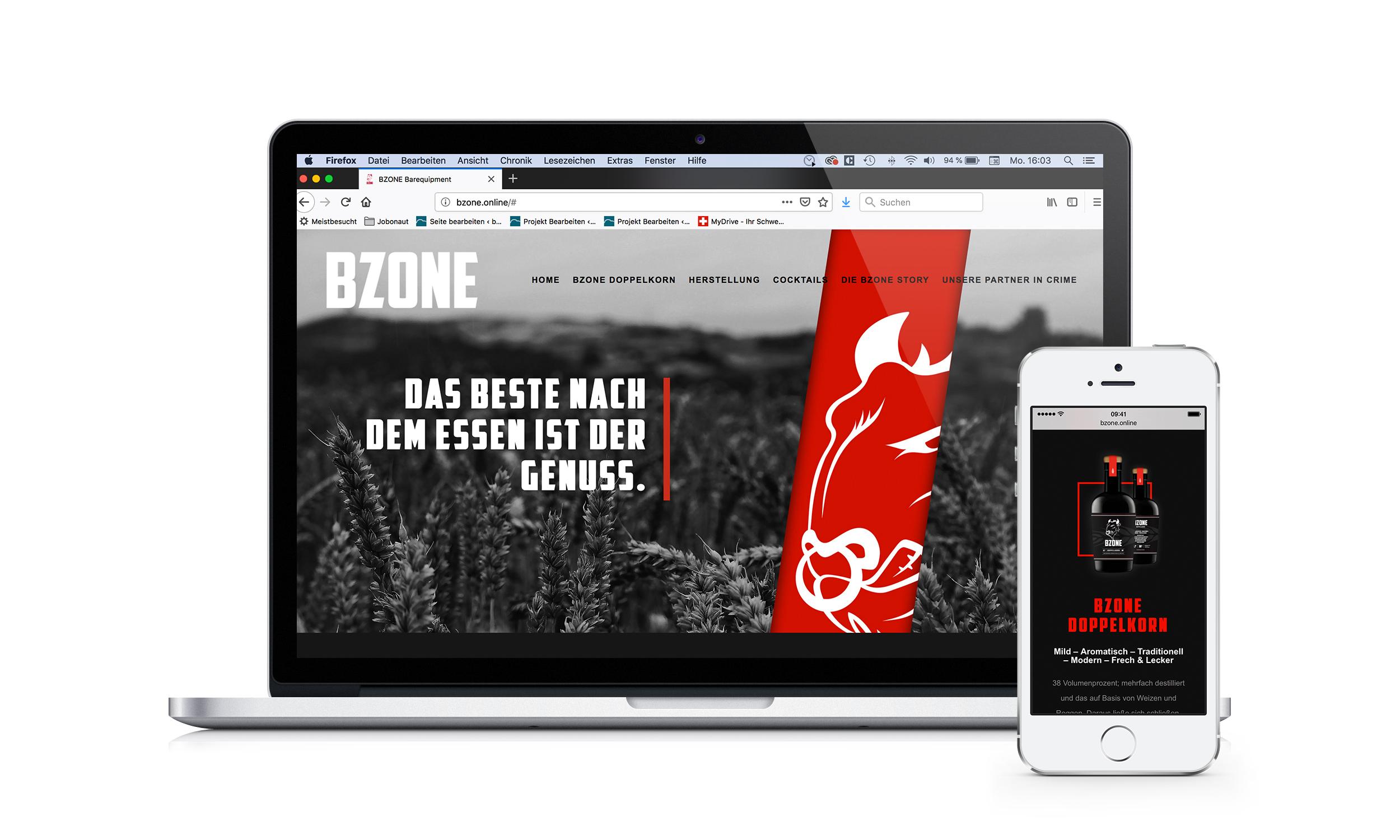 Co:op project – BZONE Barequipment – Webdesign-Frontend Development