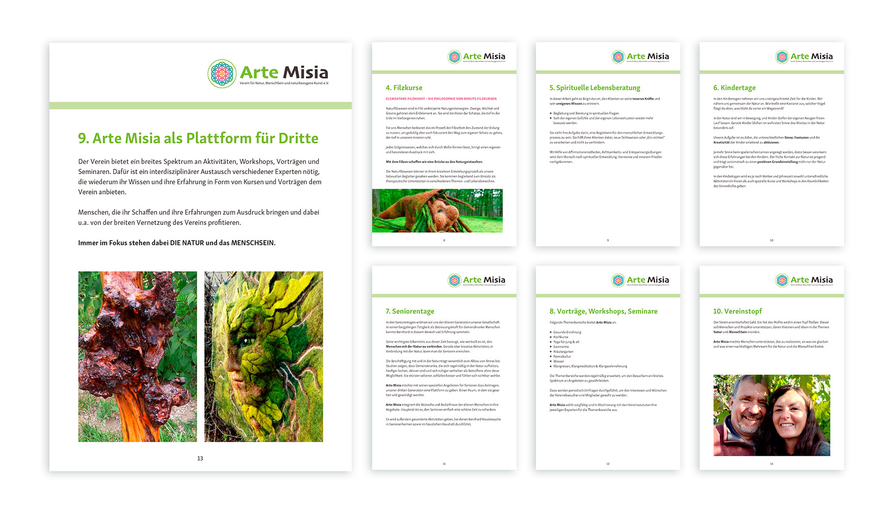 Arte Misia - Art Director - Corporate Identity - Corporate Text and Design - Brand Concept - Final Art