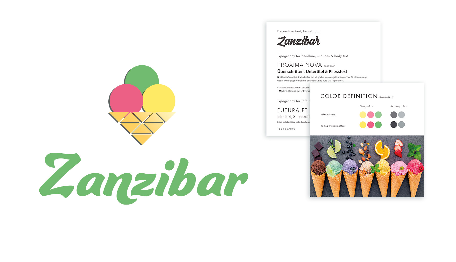 Zanzibar - Art Director - Corporate Identity - Corporate Text and Design - Brand Concept - Final Art